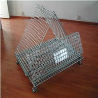 Movable Steel Wire Mesh Container with Different Sizes
