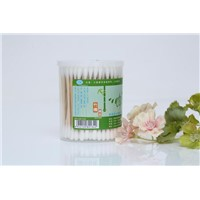 150 Wholesale PP Cylinder Box of Disposable Health Bamboo Sticks Xiao Ai Cotton Swabs