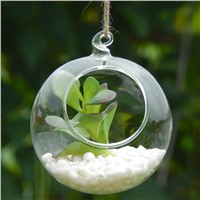 Hanging Glass Terrarium Vase Home Decoration Handmade Wedding Decorative Props Creative Hanging Candle Holder