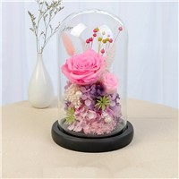 Black Base Glass Dome Vase Home Decoration Creative Glass Cover Wedding Favor Gift