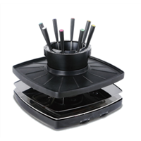 BBQ Grills with Fondue Sets Electric Raclette Grills with Hot Pot