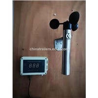 Wireless Wind Speed Sensor Anemometer for Crane/ Solar Powered/ Permanent Power/ Wind Direction/ Temperature Sensor