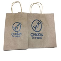 Wholesale Cheap Custom Printing Recycled Kraft Paper Bag