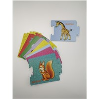 Bespoke Pattern Printed Baby Prenatal Educated Puzzle Card