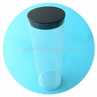 Plastic Packaging Tubes with Lids Necessary for Snack Factory Packing