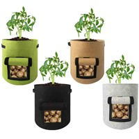 Felt Plant Vegetable Grow Bags Gardening