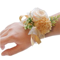 Bride Wrist Flower Mixed Artificial Decorative Bridesmaid Sisters Hand Flower Wedding Decorative