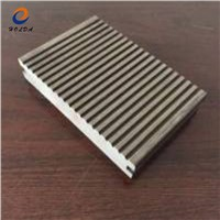 Anti UV Waterproof Exterior Grooved WPC Wood Composite Decking Covering Hollow Deck Board 140*23mm Outdoor