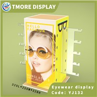 Yellow Rotating Sunglass Display Rack