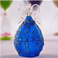 Blue Series Glass Angel Home Decoration Handmade Glass Angel Christmas Day Friend Gift