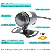 720P Megapixel Small Waterproof Adjustable Bracket Backup Camera (TOP-211HD)