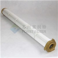 Forst 3 Lug Flange Pulse Jet Filter Cartridge For Polyester Filter Bag