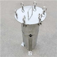 100% China Factory Manufacture Food Grade 304 Stainless Steel Single Bag Filter Housing Size #1 for Water Filtration
