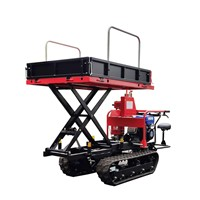 WALI 3BD-500H Mini Crawler Type Garden Dumper with Lift Container
