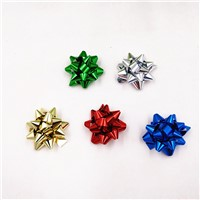 1 Inch Min Metallici Star Bow 100 Pcs 2.5cm Plastic Gift Bows for Wedding Party & Christmas Gift Decoration