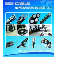 Al/XLPE Overhead ABC Cable (Aerial Boundled Cable) Single/Duplex/Triplex/Quadruplex/Five Stranding.