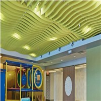 Various Wooden or Solid Color Aluminum Tube Baffle Ceiling Panel