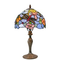 "Tiffany Lamp - 12"" Diameter Table Lamp w/Metal Base(NG121294-311CB)"