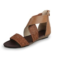X Bridge Style Summer Sandals with Knitting Craftwork