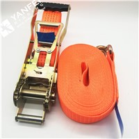 EN12195-2 50mm 500kg 100% High Tenacity Polyester Ergo Ratchet Tie Down Strap from China Manufacturer