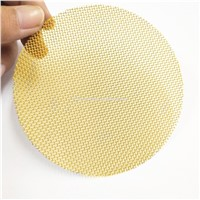 Chimney Pipe Brass Mesh Screen 0.2mm 20 50 70 80 100 200 Mesh Brass Wire Mesh Discs