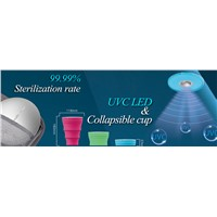 LED UVC Sterilization Cup, 99.99% Disinfection Rate, IP65 Grade, USB Charging, Portable Design, 360D Coverage for Sterilize t