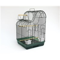 Medium Wave Shape Roof Bird Cage with Playing Top