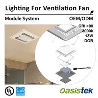 Lighting for Ventilation Fan (Module System-OEM/ODM) Oasistek