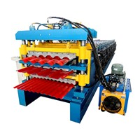 High Quality Three Layer Roof Sheet Glazed Tile Roll Forming Machine Metal Profile Tile Making Machinery