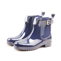 Trendy Products Shiny Pure Lady PVC Rain Boots 2021