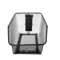 Utility Steel Mesh Metal Basket on Trackwall for Accessory Storage