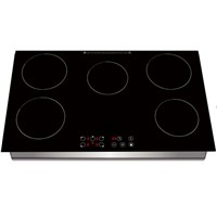 Built in Five Burner Induction Cooker with Sensor Touch Controller, Four Digital Display