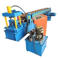 Self Lock Purlin Shelves Rack Pillar Upright Panel Roll Forming Machine