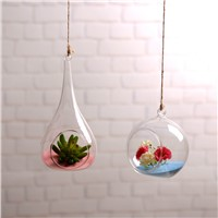 Hanging Glass Terrarium Vase Home Decoration Water Drop Shanged Hanging Wedding Decorative Glass Gift