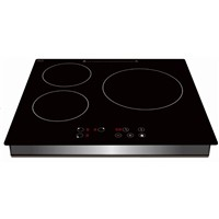 Built in 3 Burner Induction Cooker with Sensor Touch Controller, Four Digital Display