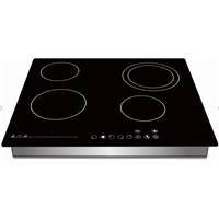 Built in 4 Burner Induction Cooker with Sensor Touch Controller, Four Digital Display
