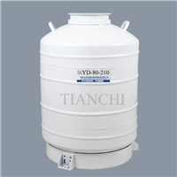 China Liquid Nitrogen Dewar 80L with Straps 6 Canisters Price In TV