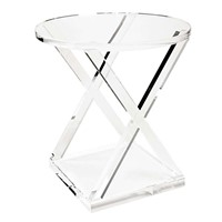 China Supplier Wholesale Acrylic Table Transparent Acrylic Side Table for Living Room