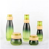 Fashionable 30G 50G Green Whole Set Cosmetics Packaging Bottle Jar