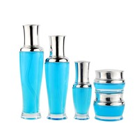 Fashionable Design Packaging 100Ml Glass Bottle for Cosmetic Lotion Bottles Set with Pump