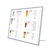 High Quality Tabletop Custom Transparent Restaurant Counter Top Display Acrylic A4 Menu Holder