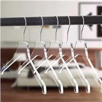 Wholesale Custom Transparent Acrylic Clothes Hanger with Metal Hook