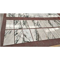 Polished Irish Calacatta White Marble Tile with Green Vein