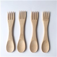100% Biodegradable Bamboo Cutlery Sets with Customized Logo Reusable Eco Friendly Bamboo Forks