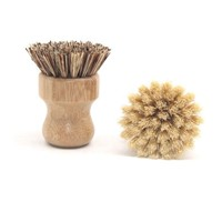 Plastic Free 100% Biodegradable Kitchen Cleaning Burush Bamboo Pot&Dish&Pan Brush Customized Logo Zero Waste