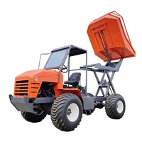 Palm Garden Four-Wheel Articulated Transport Tractor