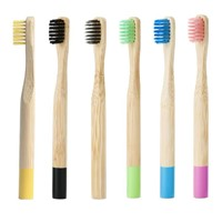 Child-Sized 100% Biodegradable Bamboo Toothbrush Customized Logo Teeth Cleaning Sustainable Package Oral Care