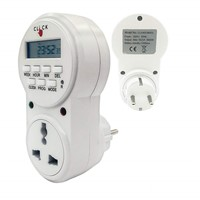 Electrobot Plastic 24x7 Automatic Smart Digital Programmable Timer Switch with Smart Socket Plug