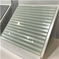 4mm 5mm Tempered Silk Screen Glass for Partition