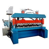 High Speed Metal Corrugated Roof Tile Sheet Making Roll Forming Machine